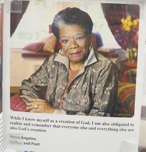 Maya Angelou Quote--Creation of God