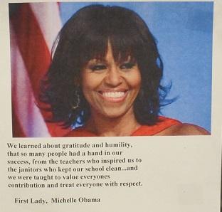 Michelle Obama Quote--Gratitude and humility