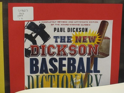 New Dickson Baseball Dictionary