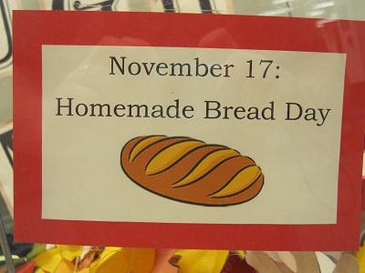 November 17--Homemade Bread Day