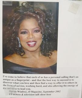Oprah Winfrey Quote--Personal Calling