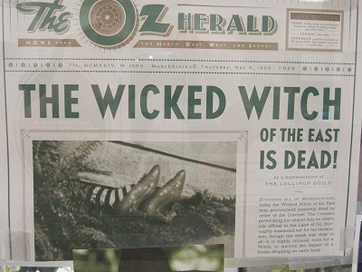 Oz Herald--The Wicked Witch of the East is Dead