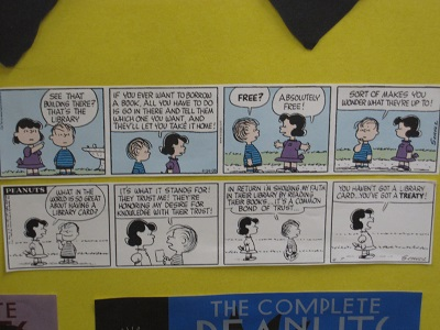 Peanuts strips--libraries