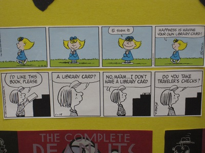 Peanuts strips--libraries2