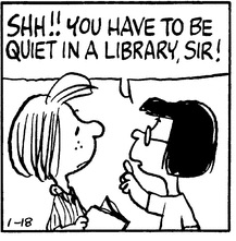 You have to be quiet in a library, sir!