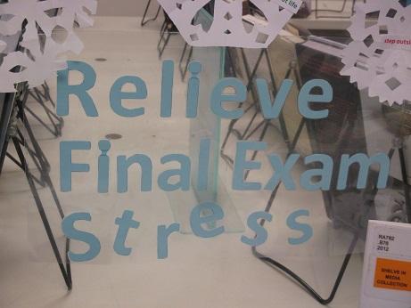 Relieve Final Exam Stress--Title card