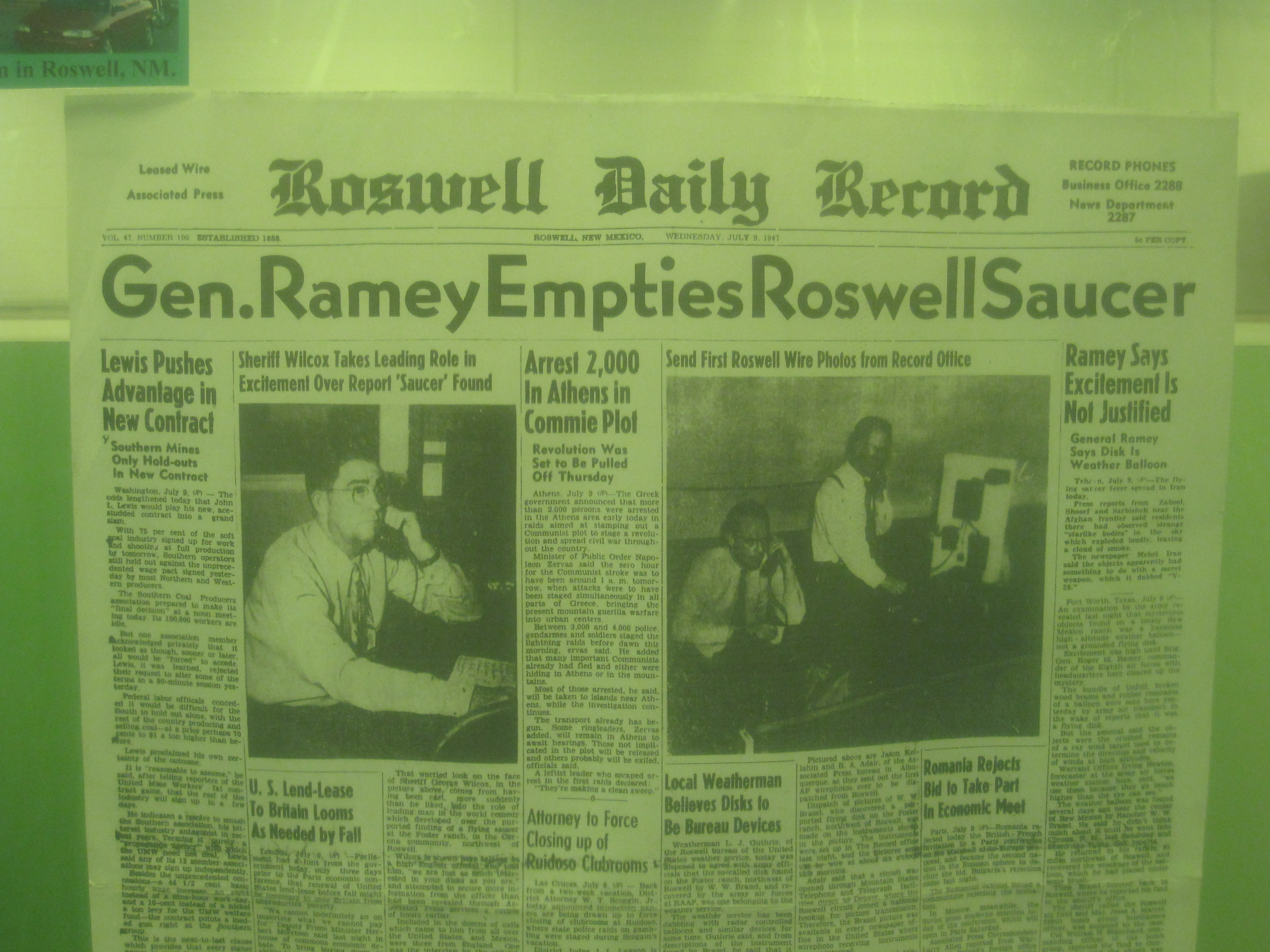 Roswell Daily Record--Wednesday, July 9, 1947