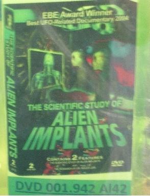 Scientific Study of Alien Implants DVD