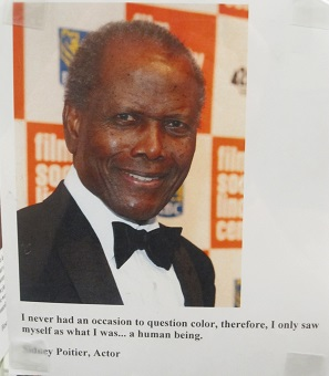 Sidney Poiter Quote--Questioning color