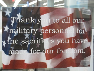 Thank you to all our military personnel for the sacrifices you have made for our freedom