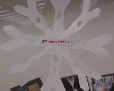 Tip--Get some fresh air