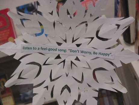 """Tip--Listen to a feel-good song """"Don't Worry, Be Happy"""""""