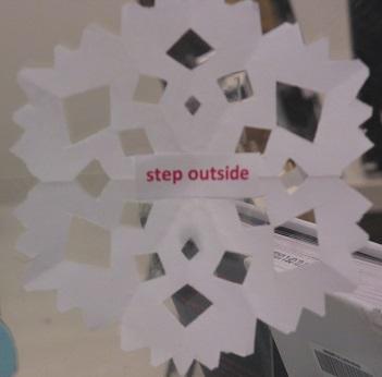 Tip--Step outside