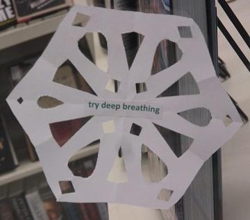 Tip--Try deep breathing