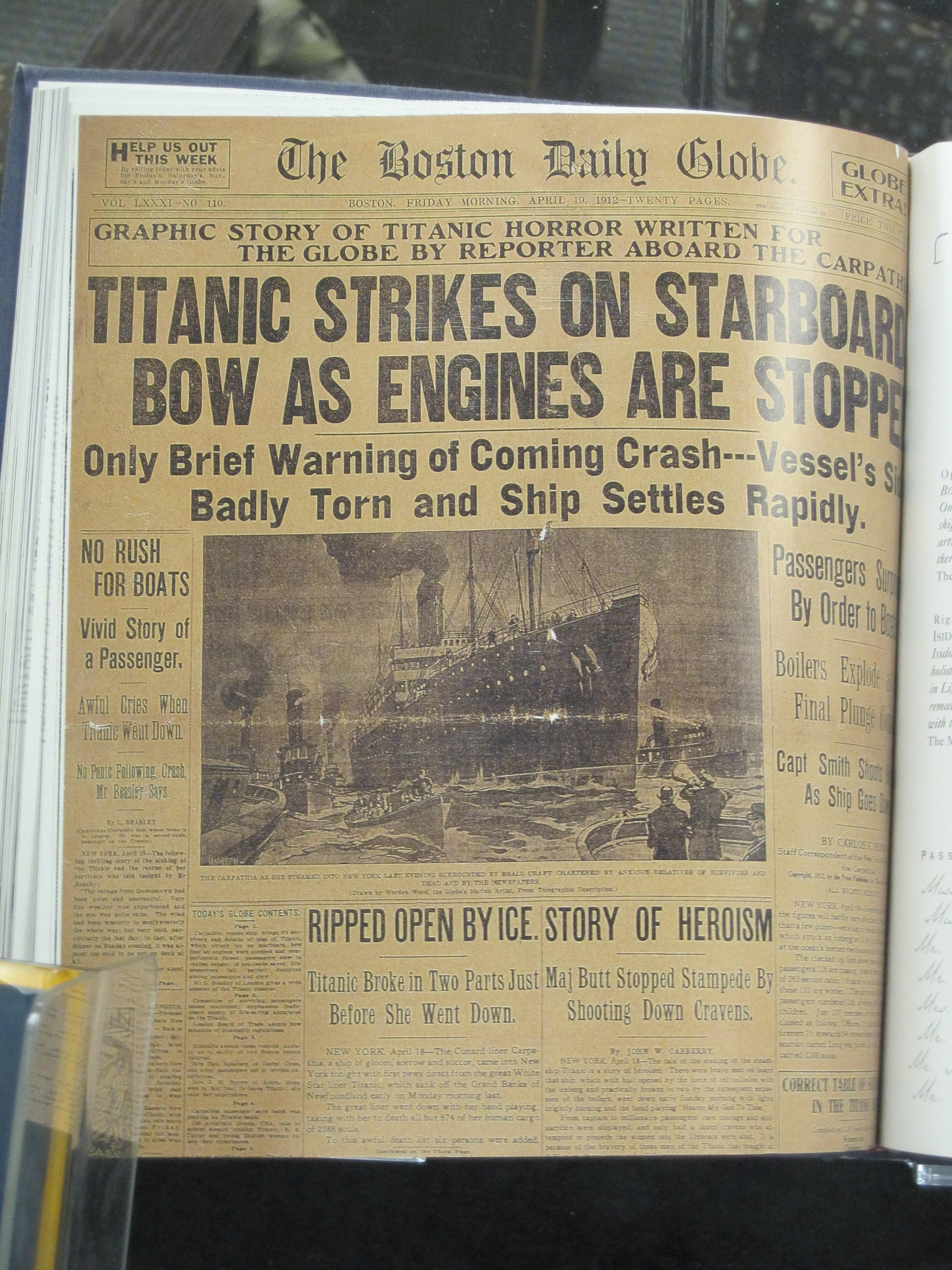Titanic Headline