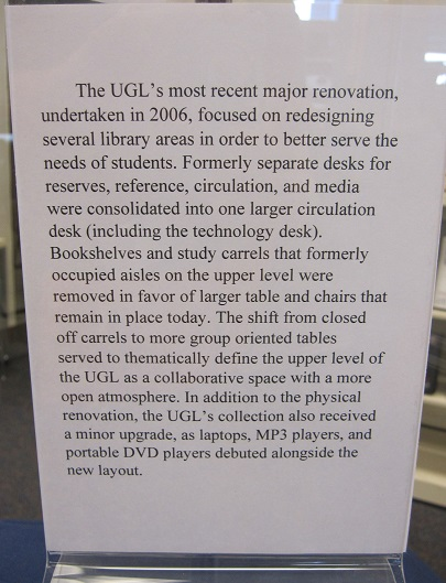 UGL Through the Years--Recent renovation report