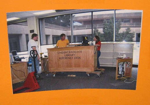 UGL Through the Years--Reference Desk installation