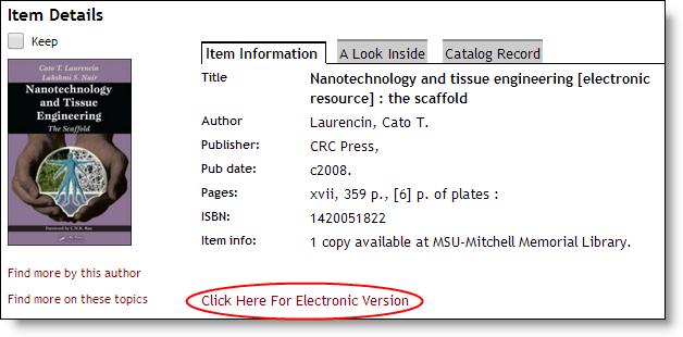 Catalog Record for ebrary eBooks