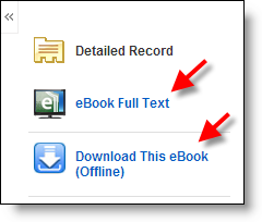 eBook links in EBSCO Records