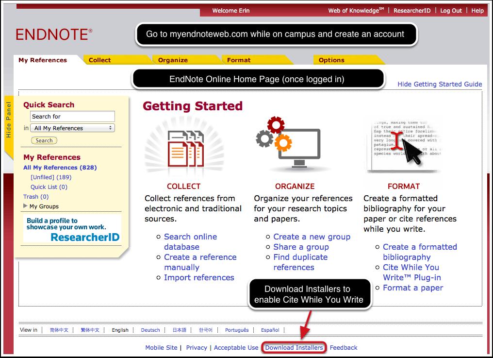 EndNote Online Installers