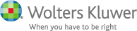 Wolters Kluwer: When you have to be right logo