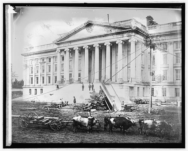 Construction of the U.S. Treasury Building