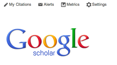 Image of Settings link on Google Scholar home page