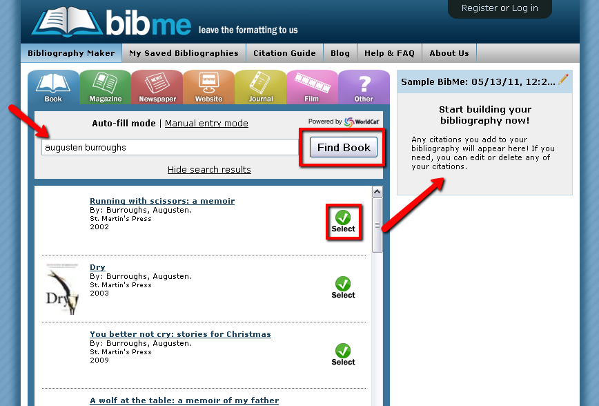 BibMe - find a book search