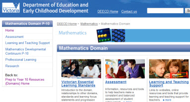 DEECD's maths domain