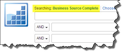 Screenshot of search screen in Business Source Complete.