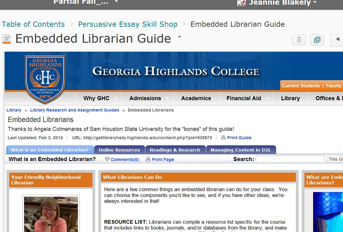 Adding Library Guides