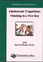 Adolescent Cognition: Thinking in a new key dvd cover