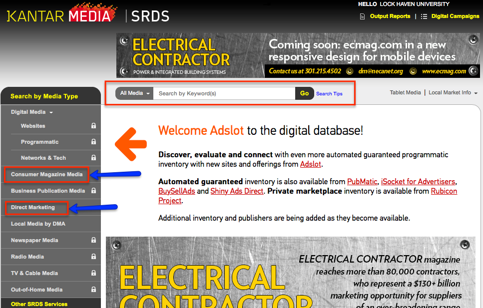 SRDS Homepage