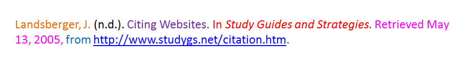APA website citation