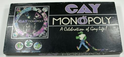 Gay Monopoly, The Parker Sisters, 1983. From the Northern Lambda Nord Archives.