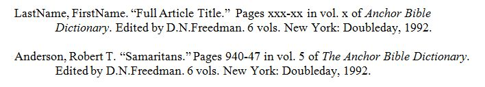 ABD bibliography example