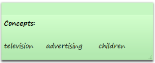 Image of concepts: television, advertising, and children
