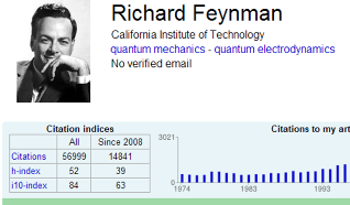 Image of Rcichard Reynman's citation profile in Google Citations
