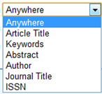 Image of dropdown search fields