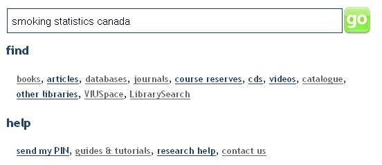 Catologue search