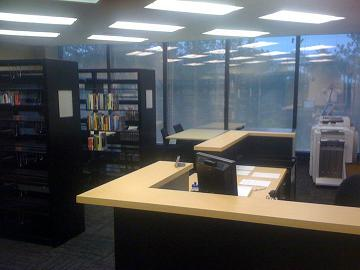 Desk View of the Library