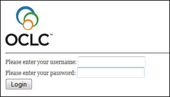 Database Login Screen