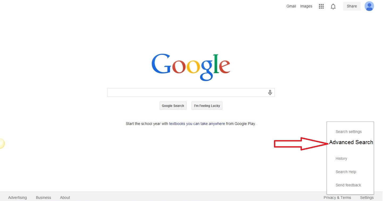 Advance search option