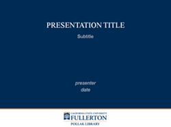 PowerPoint Template 1: Title Slide