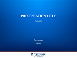 PowerPoint Template 2: Title Slide