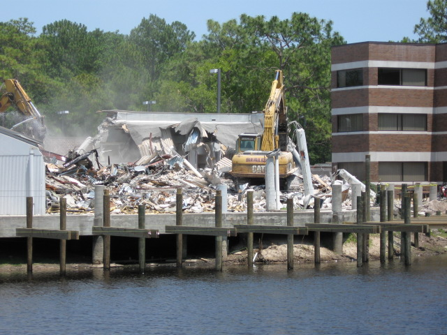 Razing of the Osprey Cafe, June 3, 2011