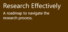 Research Effectively - A roadmap to navigate the research process.