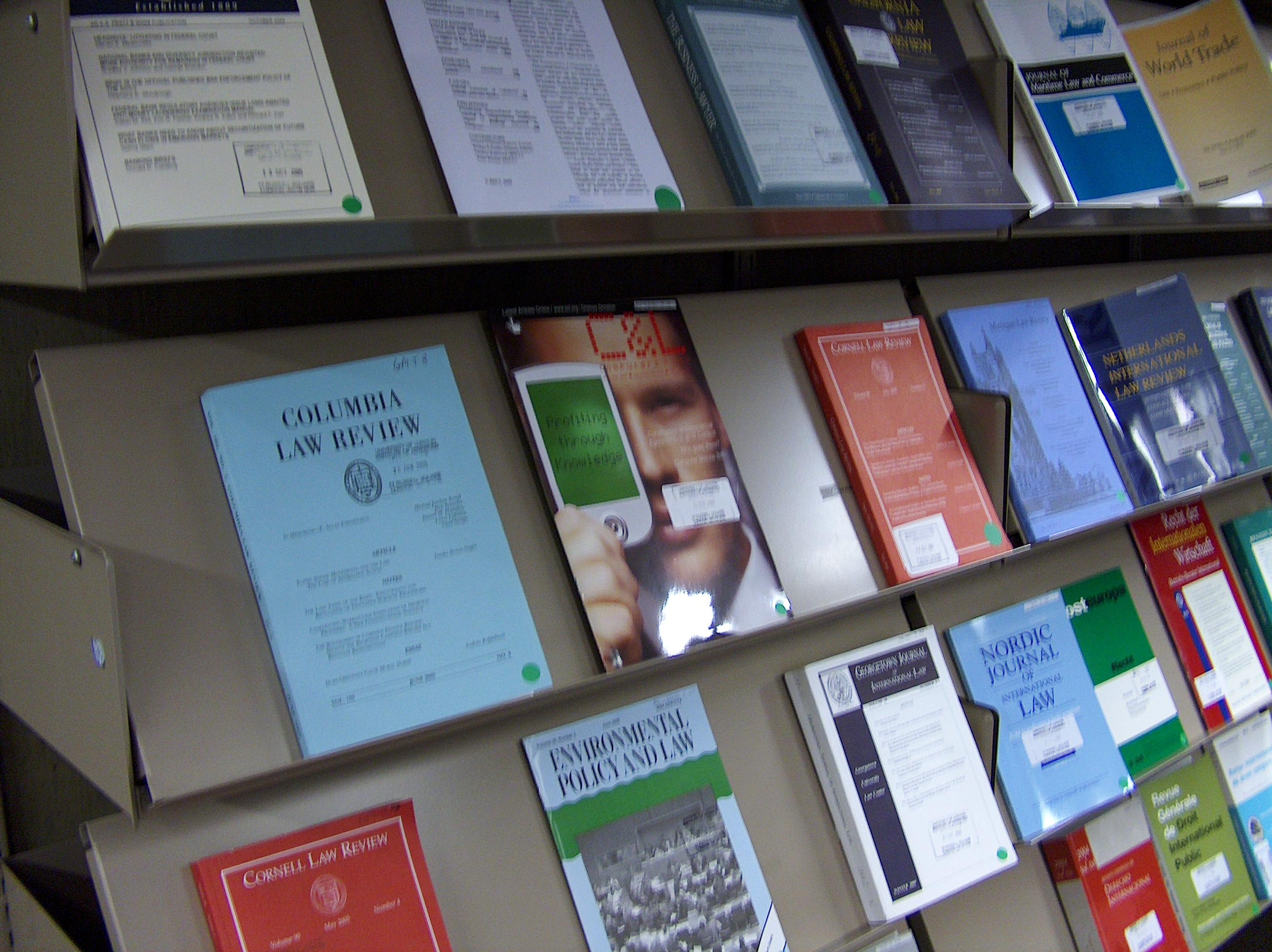 Current journals on the display rack
