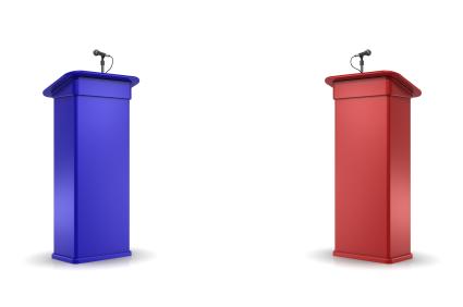 debate podiums