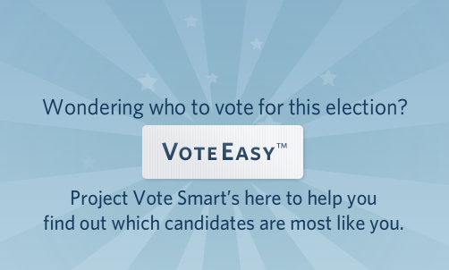 VoteEasy tool by Project Vote Smart